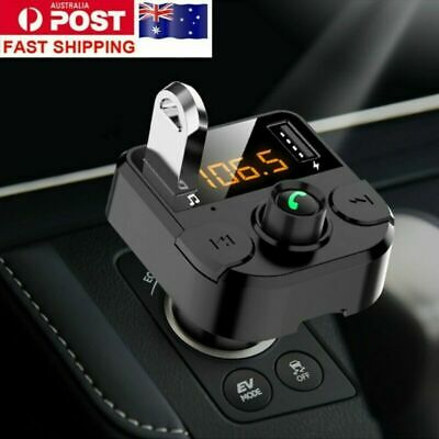 AU11.89 • Buy Handsfree Wireless Bluetooth Car Kit FM Transmitter USB Charger Radio MP3 Player