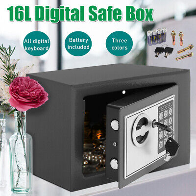 £33.99 • Buy 4.6/8.5/16L Digital Steel Safe High Security Electronic Office Money Safety Box