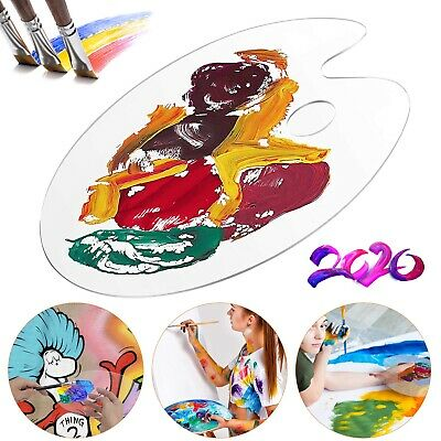 £5.59 • Buy Clear Artist Paint Pallet Painting Tray Palette Color Mixing For Plastic Paints