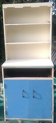 Vintage Kitchen Cabinet, Ideal For Renovation. 1950's/60's Blue And WhiteREDUCED • 60£