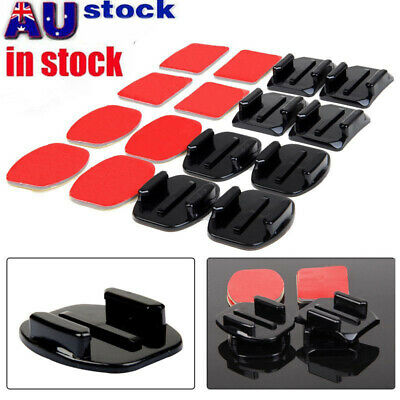 AU10.98 • Buy 8pcs Flat Curved Adhesive Mount Helmet Accessories For Gopro Hero 8/7/2 /3+/6/5