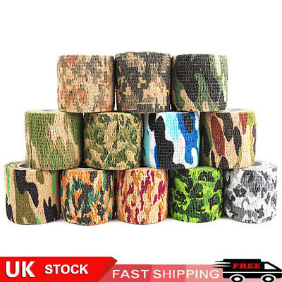 £4.19 • Buy Self-adhesive Wrap Rifle Gun Outdoor Sports Hunting Cycling Camo Tape Camouflage