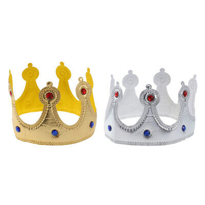 £4.06 • Buy 2PCS Glitter Birthday Crown Party Hats Tiara For Kids Adults Party Decoration