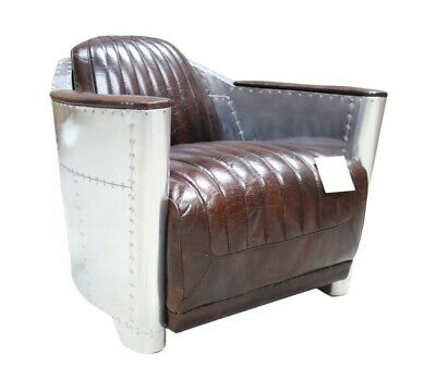 £679.50 • Buy Brand New Aviator Halo Vintage Rocket Tub Chair Distressed Tobacco Brown Leather