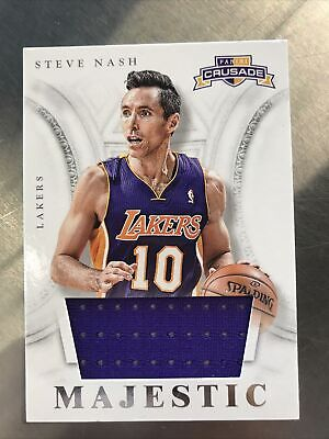 $15 • Buy 2013 Crusade Steve Nash Majestic Game Used Jersey Relic Lakers No. 57