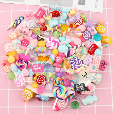 AU15.09 • Buy 30pcs DIY Scrapbooking Slime Beads Accessories Candy Flatbacks Crafts Colorful