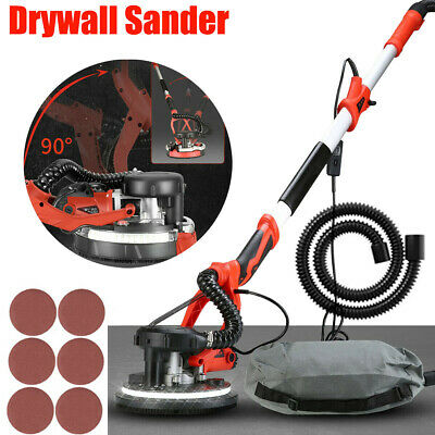 1200W Telescopic Electric Drywall Sander Vacuum Wall Ceiling Dry Dust Free LED • 109.99£