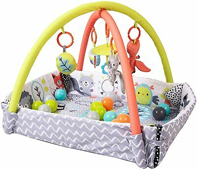 £49.99 • Buy Baby / Infant Activity Gym Soft Play Mat With Hanging Toys And Ball Pool