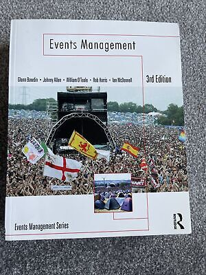 £25 • Buy Events Management By William O'Toole, Johnny Allen, Glenn A. J. Bowdin, Ian...