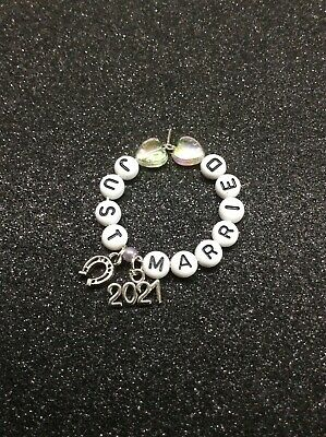 £2 • Buy Just Married Wine Glass Charm Marriage Wedding Love Horse Shoe 2021 Good Luck