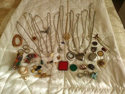 Job Lot Silver & Gold Coloured Jewellery • 16.09£