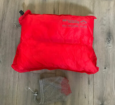 AU16.95 • Buy Mountain Designs Self Inflating Air Travel Pillow Red Excellent Condition Case