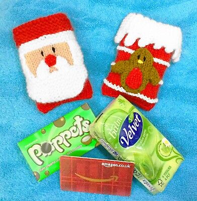 £2.99 • Buy KNITTING PATTERN - Christmas Santa And Chimney Chocolate / Tissue / Card Cover