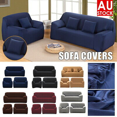 AU18.99 • Buy High Stretch Sofa Cover Couch Lounge Protector Slipcovers 1/2/3/4 Seater Covers