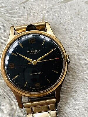Gold Plated INGERSOLL Gent's Wristwatch With Metal Bracelet. Working • 15£