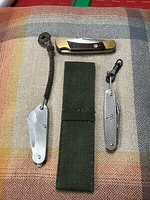 Sas.sbs.royal Marines.olive Green.drop Loop Clasp Knife Pouch.bushcraft.survival • 23£