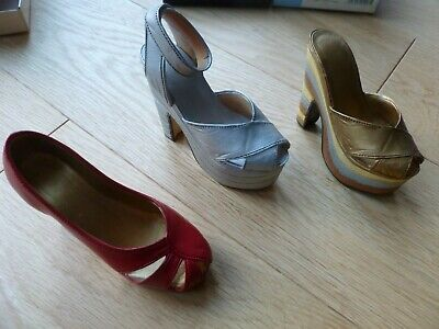 Three Early Just The Right Shoes:  Silver Cloud,  Ravishing Red, Magnetic Allure • 12£