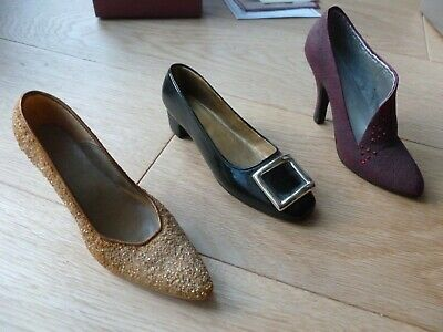 Three Early Just The Right Shoes:  Golden Stiletto, Patently Perfect, Pastiche  • 12£