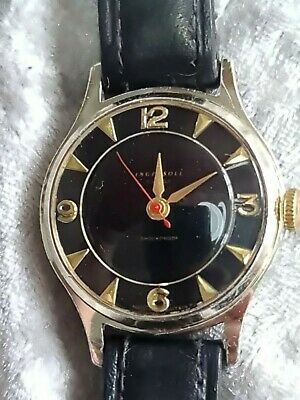 Rare Mens Vintage Gold Tone Ingersoll 7J Mechanical Watch Made In Great Britain • 50£