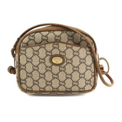 AU291.25 • Buy GUCCI GG Plus Shoulder Bag PVC Leather Beige Brown Purse 90115618