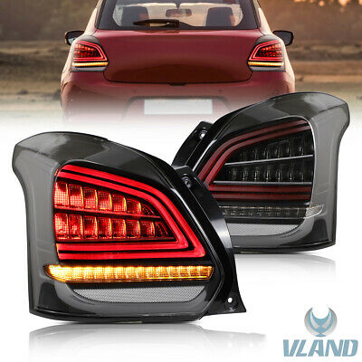 AU349.99 • Buy For 2017-2019 Suzuki Swift Sport Black And Clear LED Tail Lights With Sequential