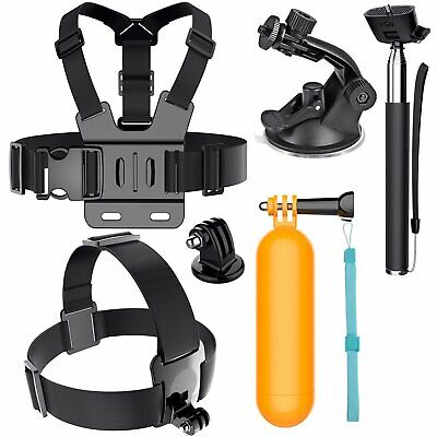 AU26.99 • Buy Head Chest Mount Monopod Gopro Accessories Kit For GoPro Hero 2 3+4 5 6 Camera
