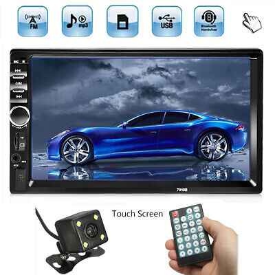 AU81.69 • Buy 2 DIN 7'' Touch Screen Double Head Unit Car MP5 MP3 Stereo Player Bluetooth FM