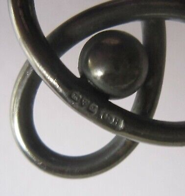 CHARLES HORNER - Large, 3 Looped, Fully Hallmarked Silver Hat Pin (822) • 35£