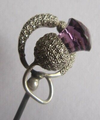 ?CHARLES HORNER - Typical Star Punched Decoration - Silver & 'amethyst'  (687) • 35£