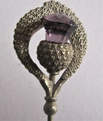 ?CHARLES HORNER - Typical Star Punched Decoration - Silver & 'amethyst'  (861) • 35£