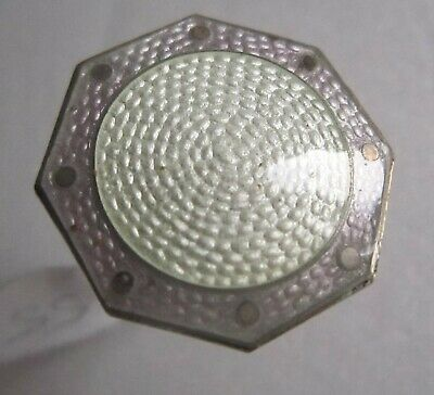 Sterling Silver And White Annd Lilac Enamel Hat Pin, Small, Hexaganol  (149) • 25£