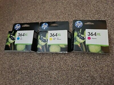 Genuine HP 364XL Tri Colour Ink Cartridges Cyan Magenta Yellow OUT OF DATE  • 12.50£