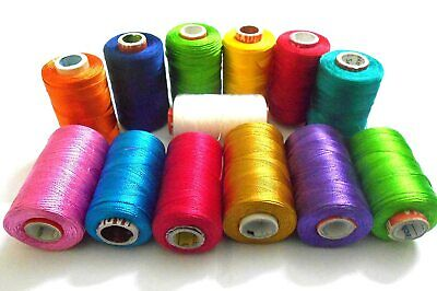 £10.28 • Buy 13 Silk Embroidery Machine Thread For Brother,Janome - Different Colors,Great US