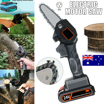 AU69.99 • Buy Mini Rechargeable Cordless Electric Chainsaw 24V Battery-Powered Wood Cutter Saw