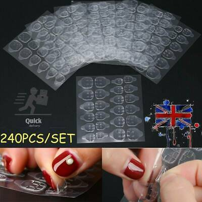 £4.78 • Buy 240 X 10 Sheets Double Sided Adhesive Tabs Glue Tape Stickers False Nail Art Tip