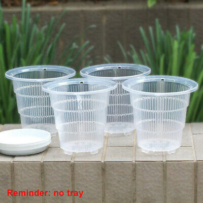 AU13.61 • Buy Clear Plastic Orchid Pot Container Planter Breathable For Gardening Garden S/M/L