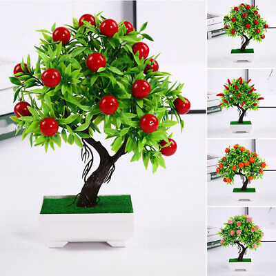 1*Artificial Potted Plant Silk Flower Parties Offices Families Restaurants Decor • 7.81£
