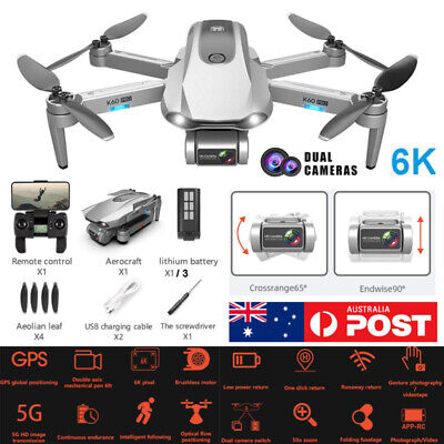 AU189.99 • Buy 5G RC Drones GPS X Pro With 6K Dual Cameras Wifi FPV Brushless Drone Quadcopter