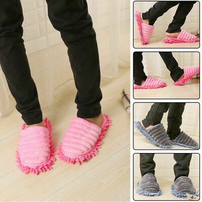£8.99 • Buy A Pair Mop Slippers Lazy Foot Socks Floor Shoes Quick Polishing Cleaning Dust UK
