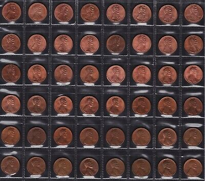 AU40 • Buy United States One Cent Coins Dates From 1964 To 2011 All Different 48 Coins