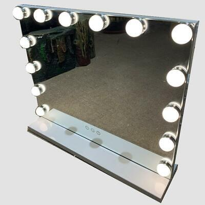 Hollywood Mirror Vanity LED 14 Light Bulbs Makeup Touch Dress-up Smart • 89.99£