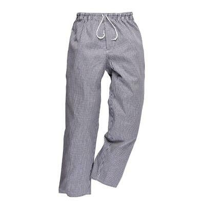 £17.95 • Buy Portwest Bromley Cotton Elasticated Drawstring Waist Chef Trousers #C079