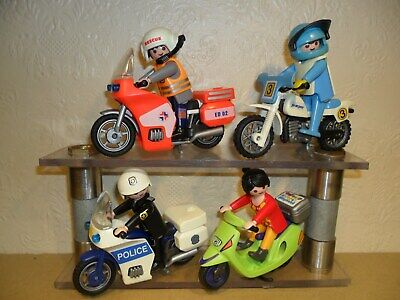 PLAYMOBIL MOTORBIKES JOB LOT (dirt Bike,motorcycles,Police,Scooter,Medic) • 14.50£