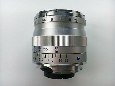 Zeiss 35mm F2 Biogon T* ZM Leica M Mount Lens Silver, Very Light Use + T* FILTER • 730£