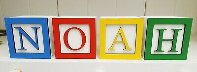 £5.50 • Buy Personalised Toy Story Theme Name Letter Baby Christening Wooden Blocks Gift