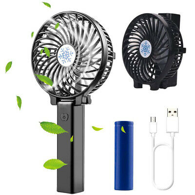 AU14.79 • Buy Portable Mini Hand-held Small Folding Desk Fan Cooler Cooling USB Rechargeable