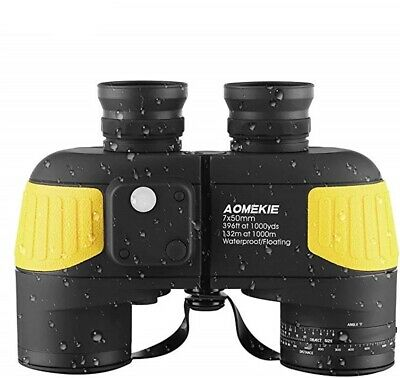 £87.21 • Buy Marine Binoculars For Adults 7X50 With Night Vision Compass Rangefinder