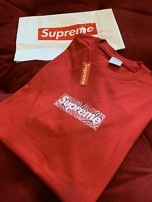 $ CDN76.43 • Buy Supreme Bandana Box Logo Tee Red Size L