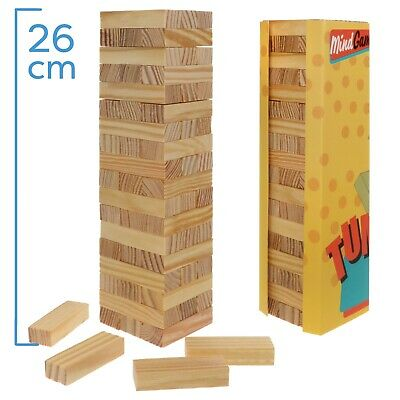 £5.99 • Buy Traditional Wooden Stacking Tumbling Tower Game JENGA Kids Family L 26x6.5x6.5cm