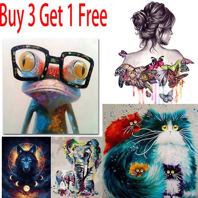 Paint By Numbers Adult Children Beginners Frameless DIY Oil Acrylic Painting Kit • 1.99£
